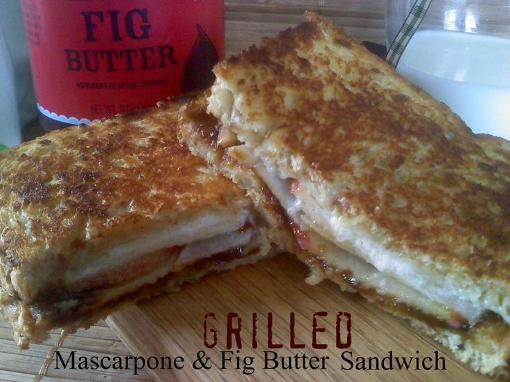 Grilled Mascarpone & Fig Butter Sandwich!