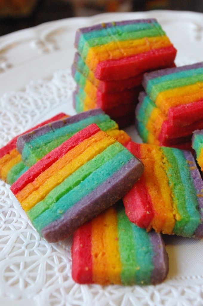 """rainbow cookies""""! Maybe I can do pink and blue for our # ..."""