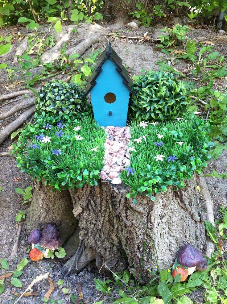 stump garden   Tree stump   garden   Fairy Fun   Pinterest