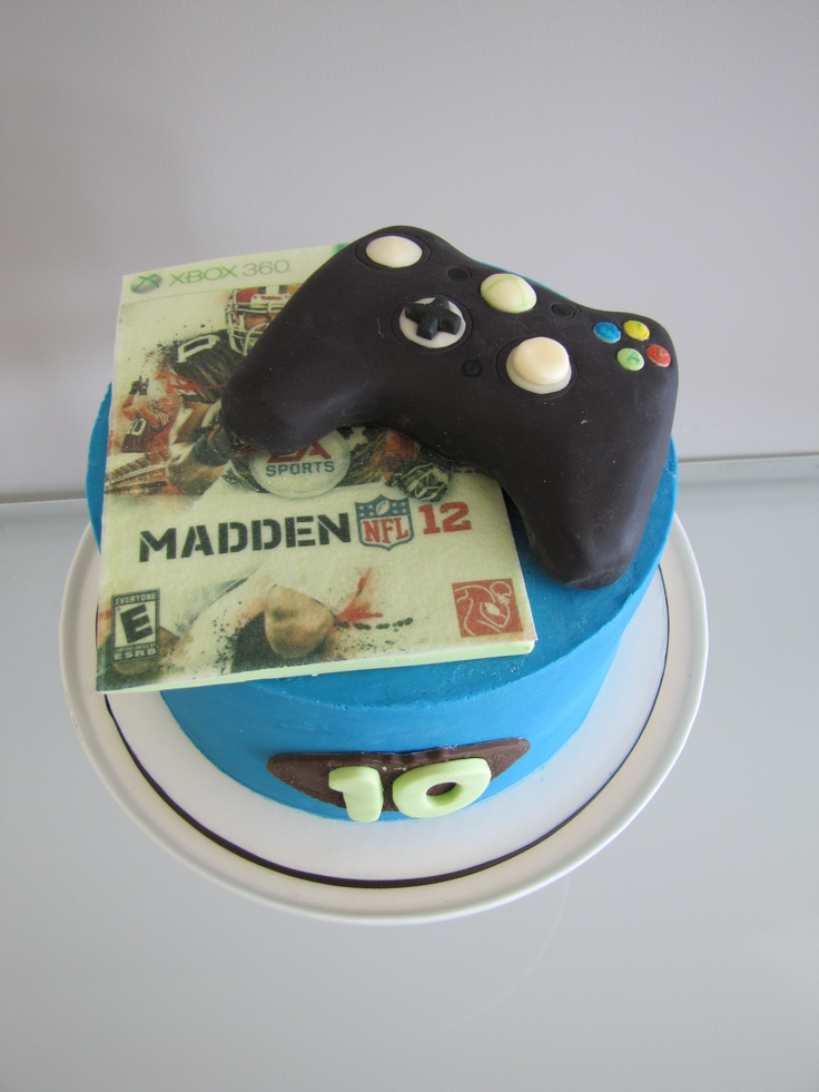 Madden Football/Xbox Birthday Cake  Birthday Parties  Pinterest