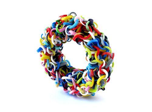 Jun Konishi  Bracelet: Plastic Circle 2013  Plastic  15 x 15 x 4 cm