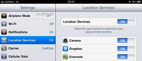 how to disable location tracking on iphone