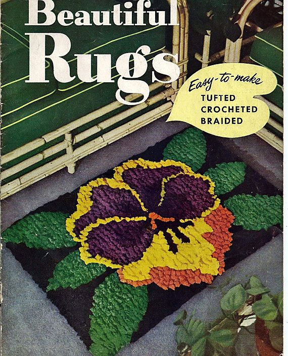 Crocheting Rugs Book : Beautiful Rugs Tufted crocheted Braided by grammysyarngarden, $10.00