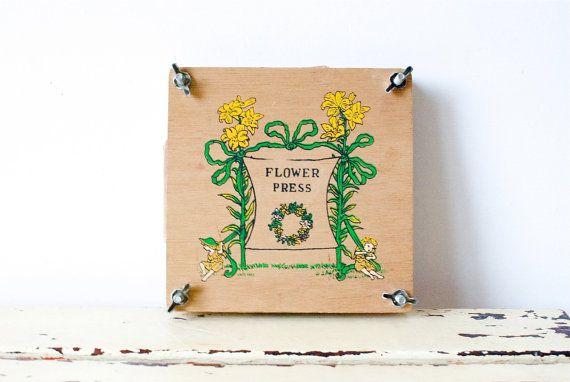 vintage flower press.