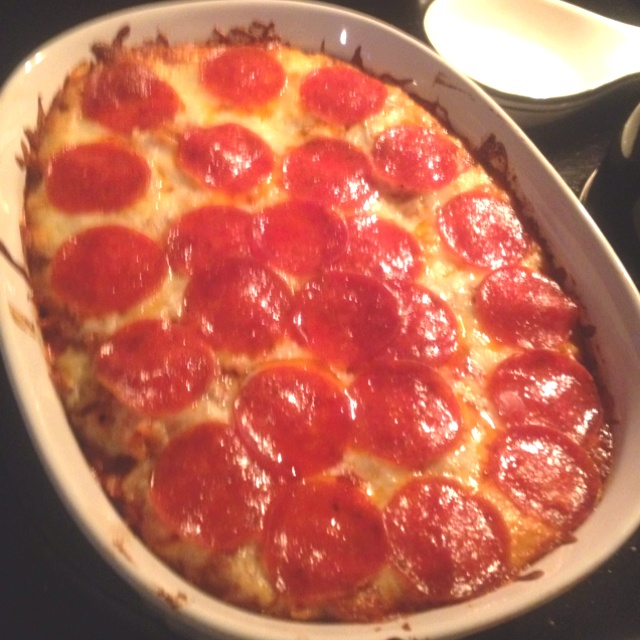 Pepperoni pizza casserole | ...now I wanna go eat! | Pinterest