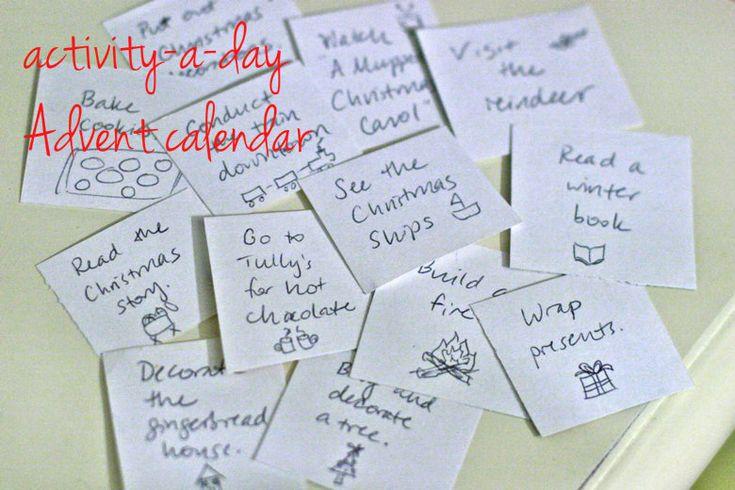 Advent Calendar Ideas Kids : Advent activities for children search results calendar