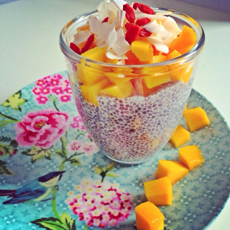 Mango coconut chia pudding   Healthy snacks and meals   Pinterest
