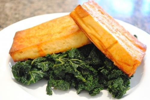 Vegan Sriracha-Agave Baked Tofu from That Was Vegan?