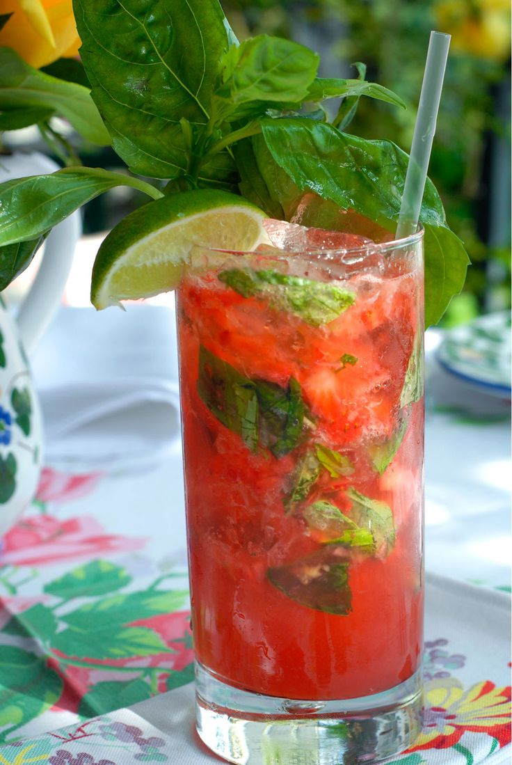 Fresh Strawberry & Basil or Fresh Raspberry Mojito with Bacardi ...