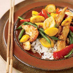 Stir-Fry Suppers: Sesame-Ginger Chicken and Vegetable Stir-Fry (via ...