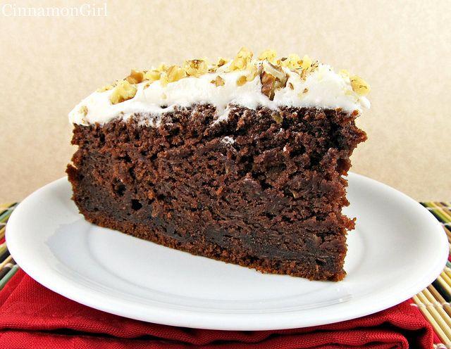 Chocolate Zucchini Cake with Sour Cream Frosting | Recipe