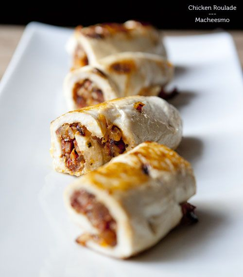 Apricot & Bacon Stuffed Chicken Roulade