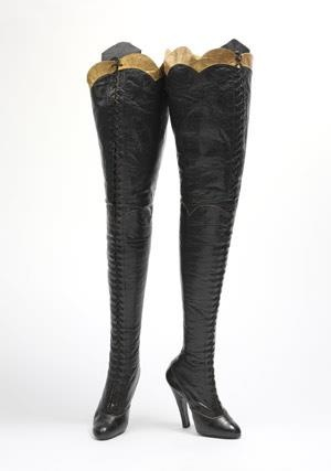 amazing vintage thigh high boots middle aged