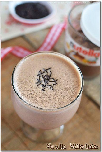 Nutella milkshake   Sweet Tooth   Pinterest