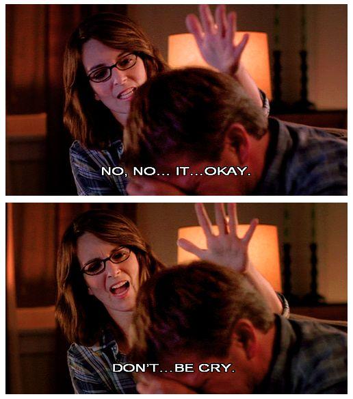 definitely how i react to someone crying... awkwardly