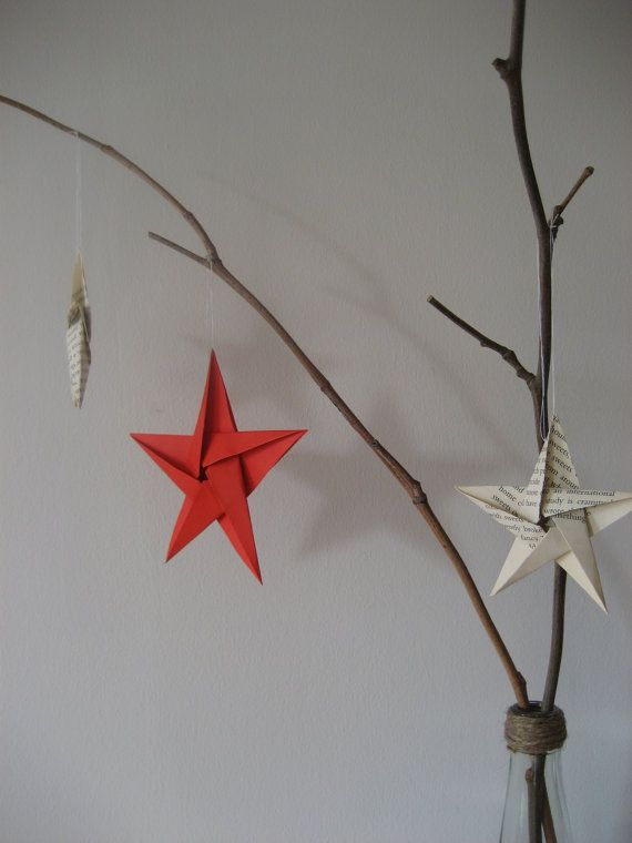 Christmas tree ornament wedding wishing tree origami by Meiorigami, £ ...