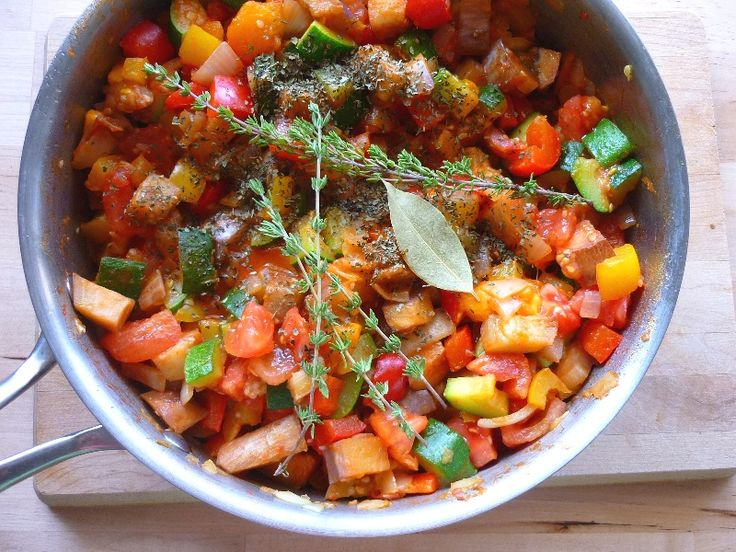 Ratatouille #glutenfree | Vegetables | Pinterest