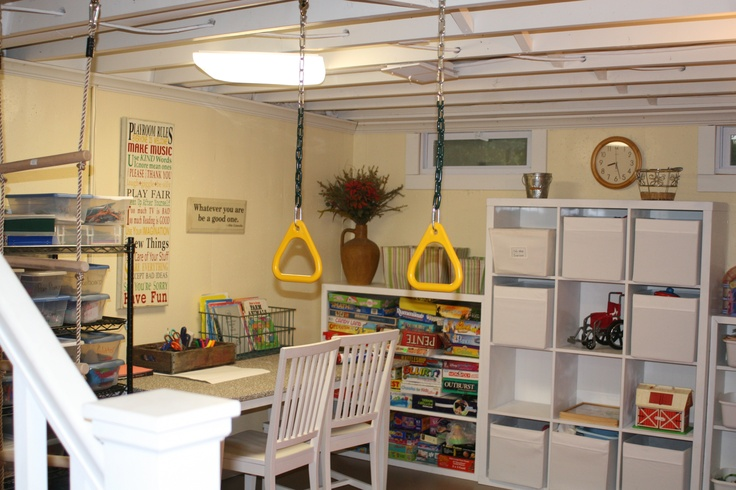 playroom in unfinished basement painted basement ceiling basement