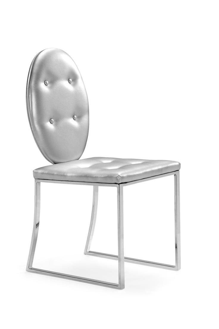 Zuo modern silver dining chair furniture pinterest