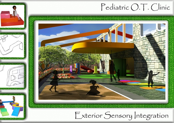 Backyard Treehouse Pediatric Therapy Center : Outdoor Sensory Clinic extension idea!  Therapy Rooms & Playgrounds
