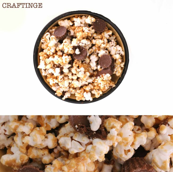 craftinge: Reese's Peanut Butter Cup Popcorn