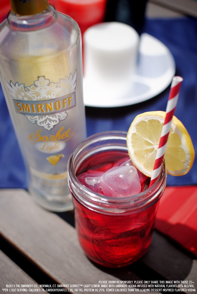 Smirnoff Sorbet Light Lemon and cranberry juice drink recipe with 1.5 ...