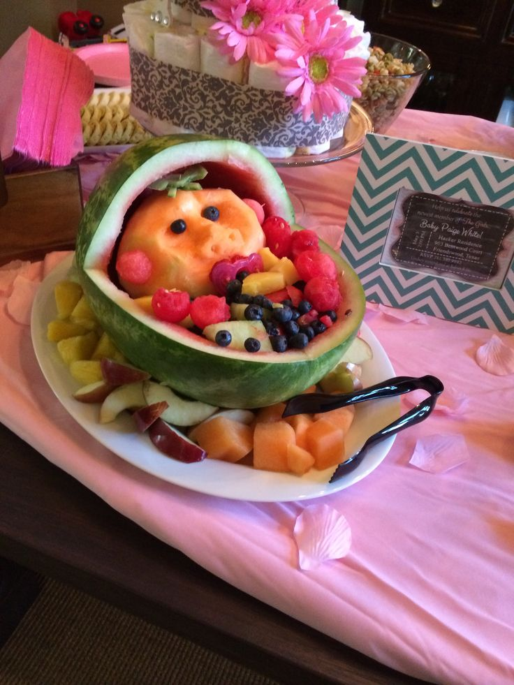 baby shower fruit tray babyshower ideas pinterest