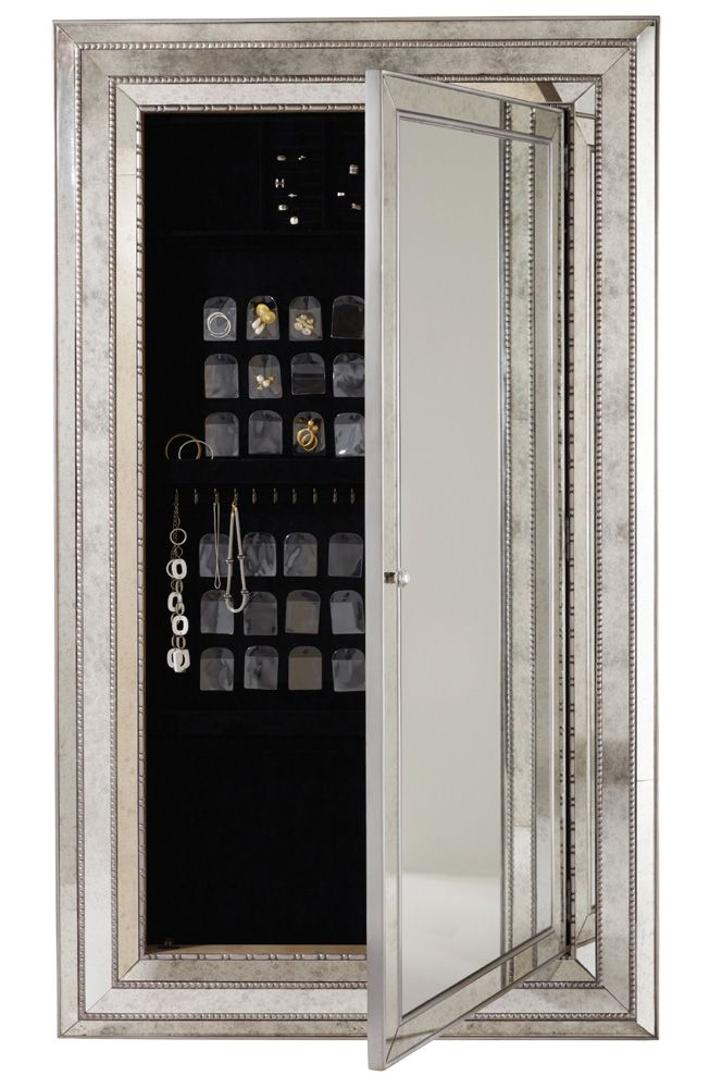 mirror with hidden jewelry storage pin your best home decor shared. Black Bedroom Furniture Sets. Home Design Ideas