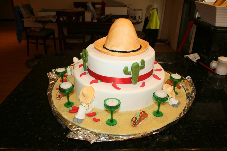 mexican birthday cake mexican theme pinterest