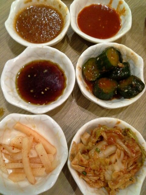 ... salad), Musaengchae (spicy radish salad), Kimchi @ Seoul Garden