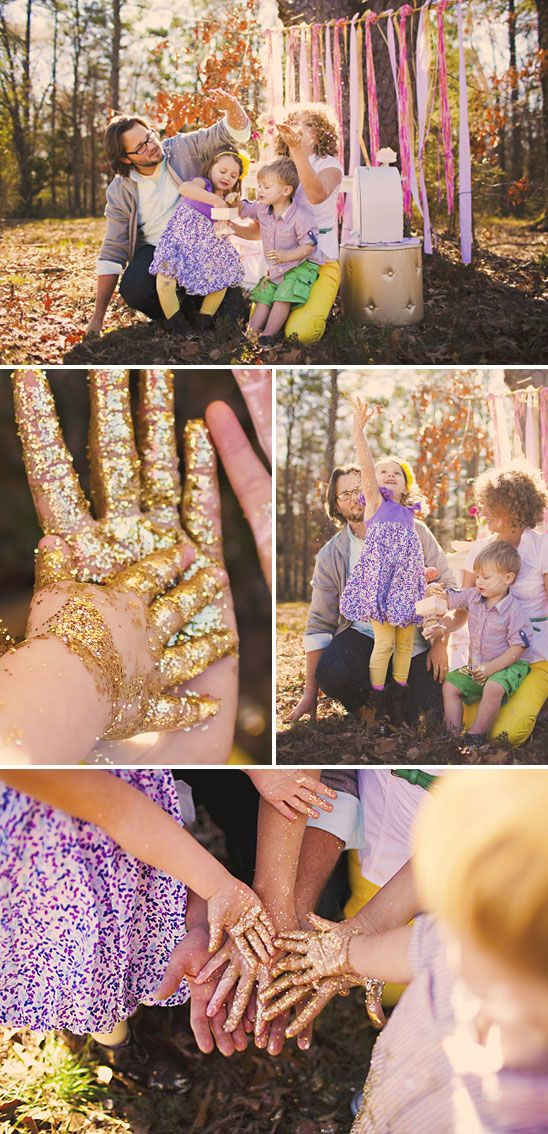 Glitter family photo shoot! Messy, but worth it.