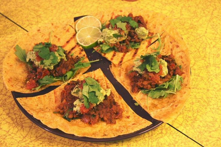 Spicy Ancho Lentil Tacos   Vegan Recipes   Pinterest