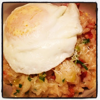 Bacon and Leek Risotto with an Egg - The Delicious Bite. Heaven on a ...