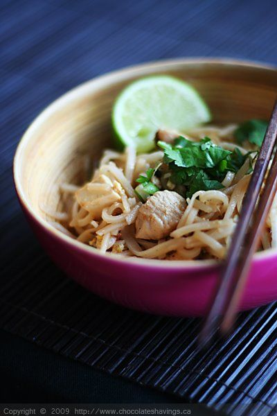 Classic Pad Thai with Chicken and Tofu