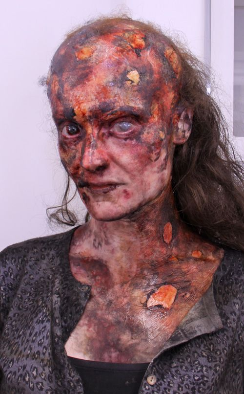 Fantastic horror stage makeup morgue pinterest horror stories trauma and face makeup