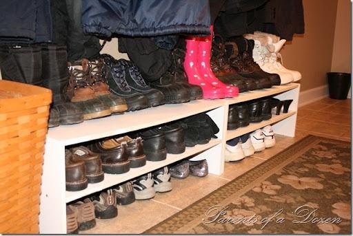 Very easy to build shoe storage. | Entry bench/Shelf/Coat Rack | Pint ...