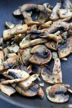 Farro Salad with Tomatoes, Mushrooms and Basil | Recipe