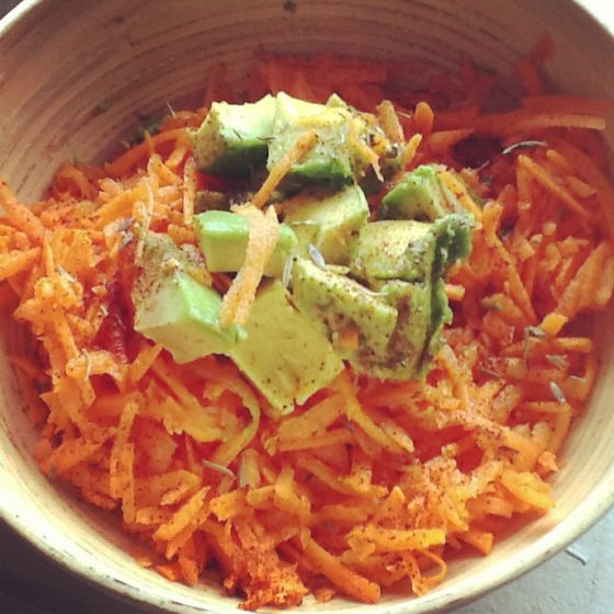 Carrot-Avocado Mexican Salad | Salads | Pinterest