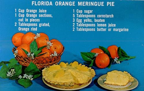 Orange Meringue Pie   Old Florida   Pinterest