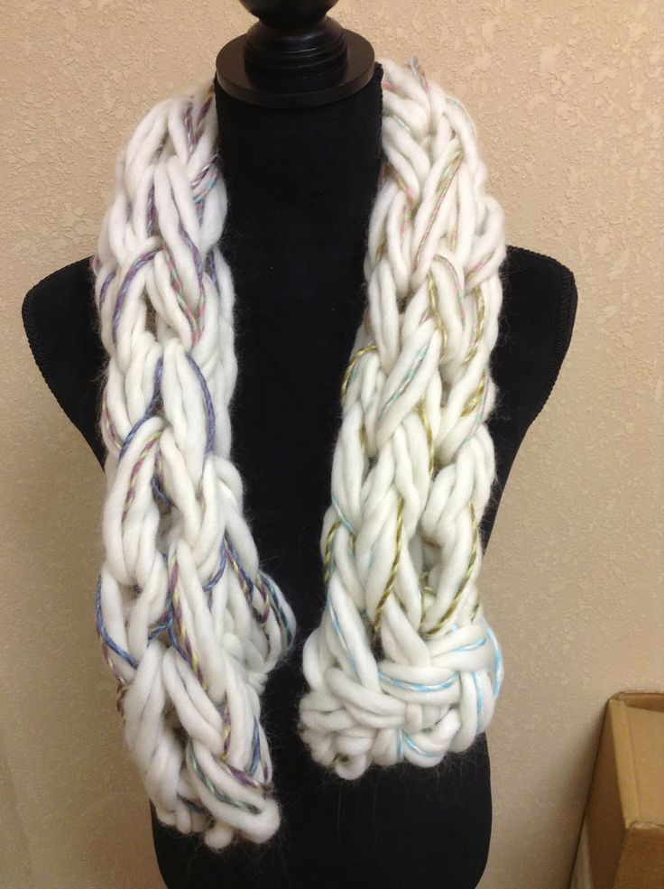Arm Knit Scarf Pattern : Arm Knitting Scarves Knitting and Crocheting Pinterest