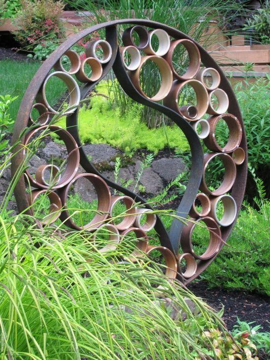 recycled art Garden Pinterest
