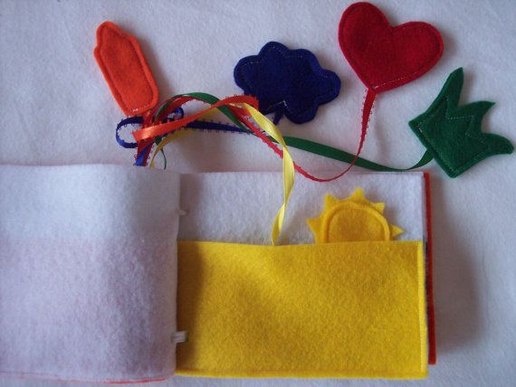 Felt Quiet Book for Learning Colors PICK ONE by lizzieboutique, $9.00