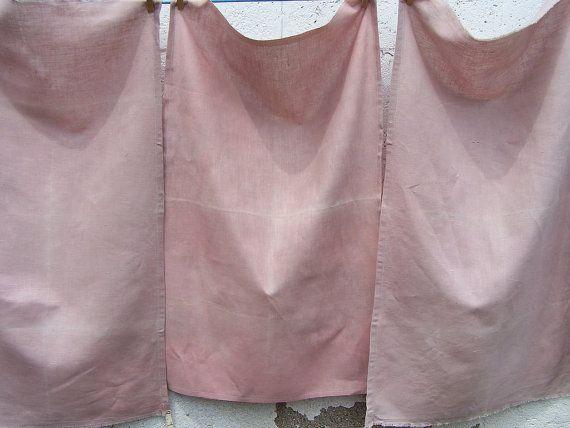 Pink  Madder & Chamomile Botanically Dyed Tea Towel by sandySTC, $12.00