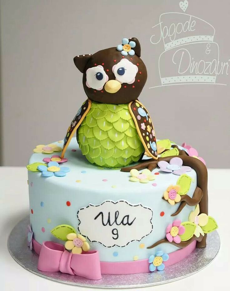 Cake With Owl Design Prezup for