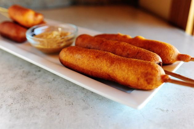 Classic Corn Dogs And Cheese-on-a-Stick Recipe — Dishmaps