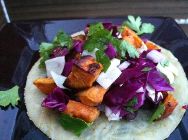 black bean and sweet potato tacos | Main Meatless Meals | Pinterest