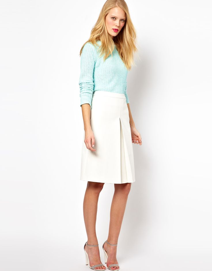 white a line skirt asos