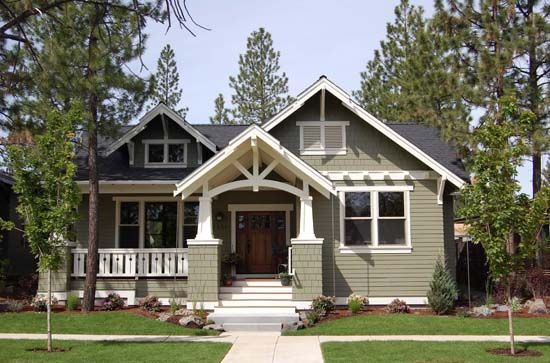 Craftsman Ranch Front Elevation Houses Pinterest
