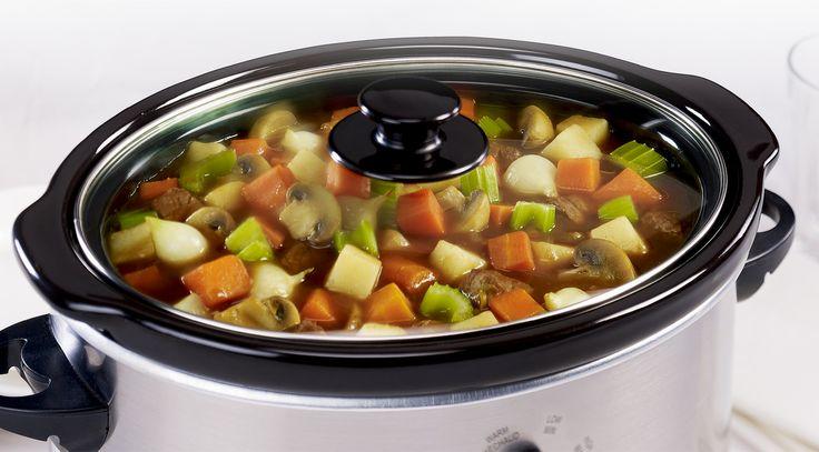 Slow Cooker Beef & Vegetable Stew | LOOK! YUM! | Pinterest