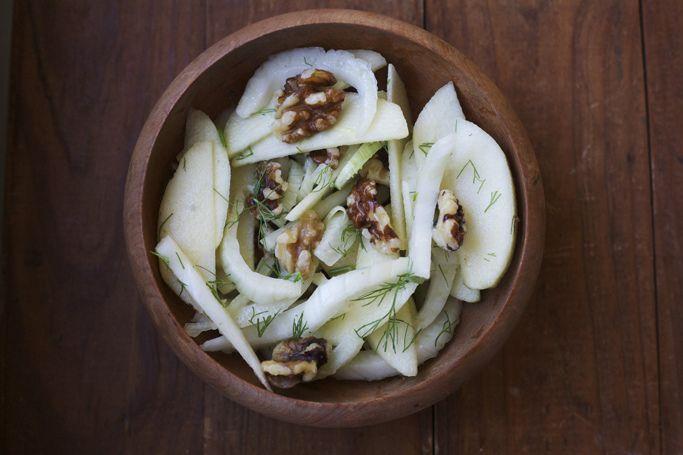 Fennel, Apple, and Walnut Salad.